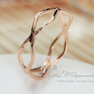 指輪 リング K18 指先に願いをこめて♪重ね付け重宝/K18RGP指輪/ピンキーリング