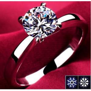 指輪 リング K18 1.3ct ダイヤモンドCZ彩石リングホワイトゴールドK18RGP