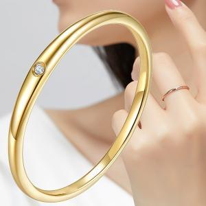 リング 指輪 レディース スワロフスキー 華奢 重ね付け ピンキー 大きいサイズ 金属アレルギー対応