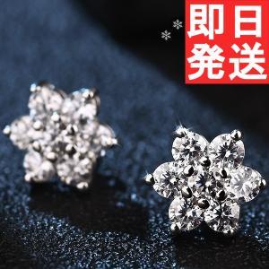ピアス レディース スワロフスキー 雪の結晶 雪華 プレゼント クリスマス K18金RGP 送料無料