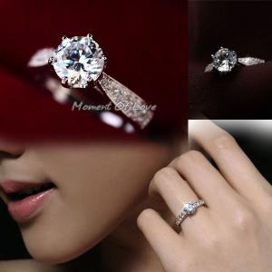 指輪 リング 結婚指輪 あすつく ジュエリー 大粒 ダイヤモ...