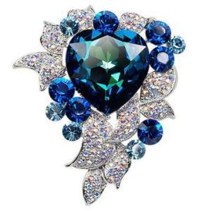 スワロフスキークリスタル 海心 プロ−チ 母の日プレゼント|jewelrysanmi