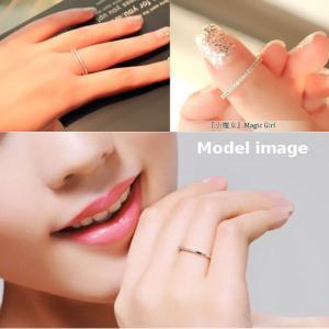 指輪 リング K18 スタイリッシュな印象を指...の詳細画像2