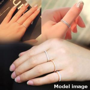指輪 リング K18 スタイリッシュな印象を指...の詳細画像3