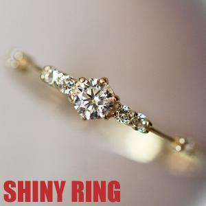 リング 指輪 レディース スワロフスキー 華奢 重ね付け ピンキー 大きいサイズ