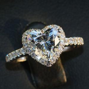 指輪 リング ハート あすつく 大粒 ダイヤモンドCZ 結婚...