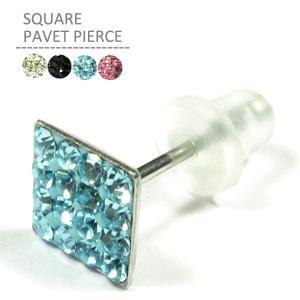 ボディピアス スクエアパヴェピアス ファッションピアス jewels-store