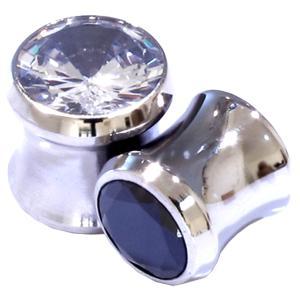 ボディピアス 8G ラージジュエルプラグホール 耳ピアス 拡張 一粒 シンプル ステンレス ボディーピアス|jewels-store