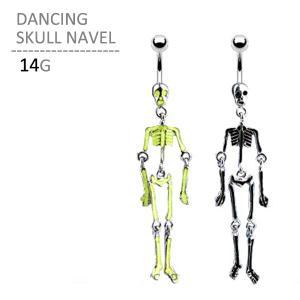 ボディピアス ボディーピアス ダンシングスカルネイブル 14G|jewels-store