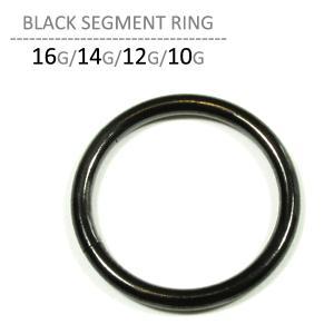 ボディピアス 16G 14G 12G 10G ボディーピアス ブラックセグメントリング jewels-store