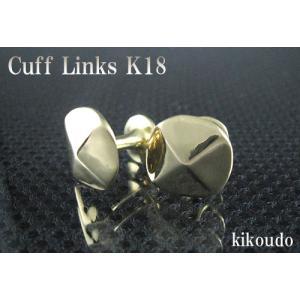 K18 イエローゴールド 金無垢 Gold Collection カフリンクス カフスボタン G-1|jewelselect