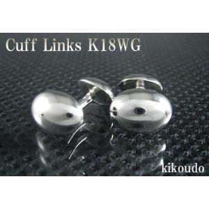 K18WG ホワイトゴールド 金無垢 Gold Collection カフリンクス カフスボタン W-4|jewelselect