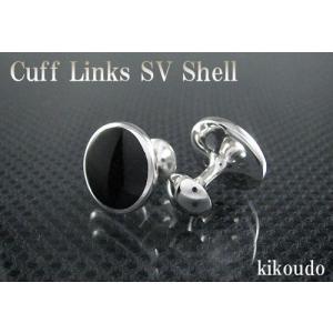 シルバー925 銀無垢 カフリンクス オニキス CLF-10B カフスボタン|jewelselect