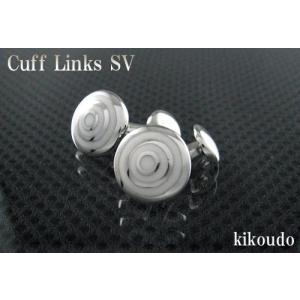 シルバー925 銀無垢 カフリンクス エナメルホワイト CLF-11W カフスボタン|jewelselect