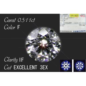 ■0.511ct/F/IF/3EXダイヤモンド極上の一品■|jewelselect