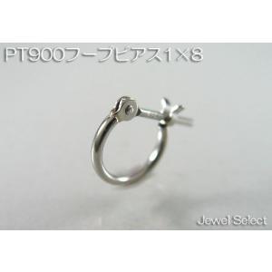 PT900 プラチナ 1×8 フープピアス片耳用|jewelselect