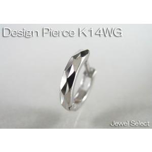 K14WG ホワイトゴールド ミラーカット リングピアス片耳用|jewelselect