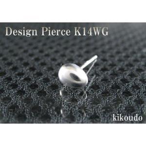 K14WG ホワイトゴールド エッグ スタッドピアス片耳用|jewelselect