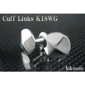 K18WG ホワイトゴールド 金無垢 Gold Collection カフリンクス カフスボタン W-1|jewelselect