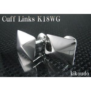 K18WG ホワイトゴールド 金無垢 Gold Collection カフリンクス カフスボタン W-2|jewelselect