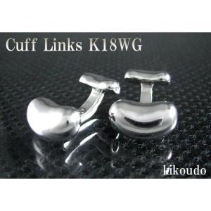 K18WG ホワイトゴールド 金無垢 Gold Collection カフリンクス カフスボタン W-3|jewelselect