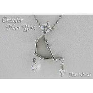 クロスフォーニューヨーク シルバー ネックレス NPN-218 やぎ座|jewelselect