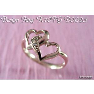 K10PG ピンクトゴールド ダイヤモンド リング メレハー4 D0.02ct 指輪|jewelselect