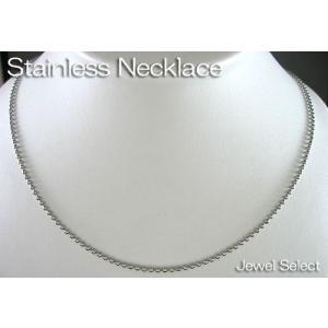 サージカル ステンレス ボールチェーン 幅2mm ネックレス 40cm〜70cm|jewelselect
