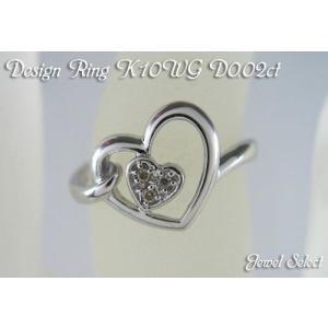 K10WG ホワイトゴールド ダイヤモンド リング メレハー7 D0.02ct 指輪|jewelselect