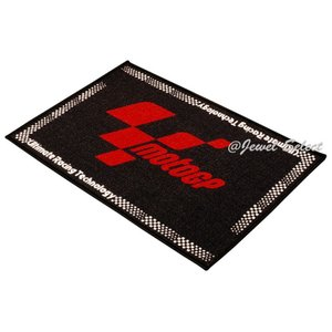 即納 MOTOGP モトGP ドアマット 玄関マット 黒×赤 お部屋のインテリアマットとしても 60cm×90cm|jewelselect