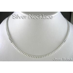シルバー925 喜平4面カット ネックレスチェーン 40cm jewelselect