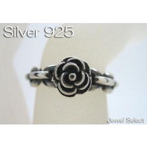 シルバー925 チェーン 薔薇 リング 指輪|jewelselect