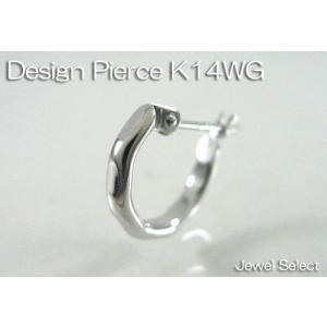 K14WG ホワイトゴールド リングピアス方耳用|jewelselect