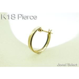 K18 イエローゴールド スタンダード リングピアス方耳用|jewelselect