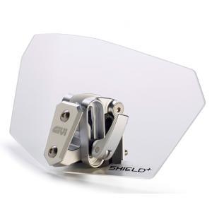GIVI ジビ S180T ユニバーサルスポイラー クリアー(透明) 角度調整可能なプラスアルファー スクリーン|jewelselect