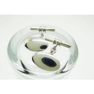 シルバー925 プレーン チェーン式 カフスボタン カフリンクス|jewelselect
