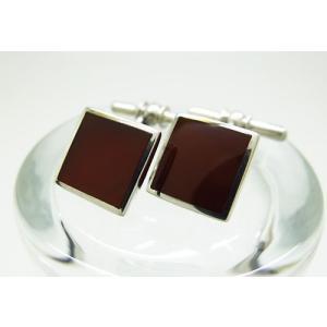 シルバー925 メノウ チェーン式 カフスボタン カフリンクス|jewelselect
