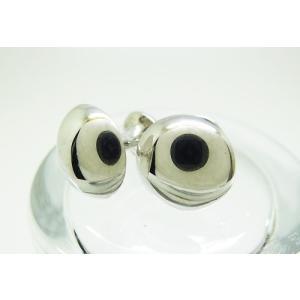 シルバー925 銀無垢 ラウンド カフスボタン カフリンクス|jewelselect