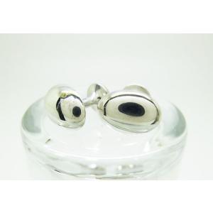 シルバー925 銀無垢 プレーン カフスボタン カフリンクス|jewelselect