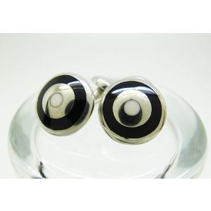 シルバー925 銀無垢 エナメル カフスボタン カフリンクス|jewelselect