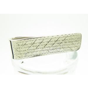 シルバー925 銀無垢 マネークリップ 彫り模様仕上げ|jewelselect
