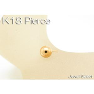 K18 イエローゴールド ボール スタッドピアス片耳用|jewelselect