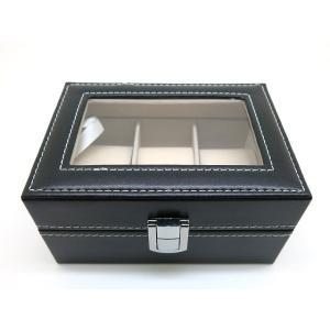 腕時計収納ボックス 3本収納 ブラック|jewelselect