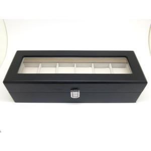 木製 腕時計収納ボックス 6本収納 ブラック|jewelselect