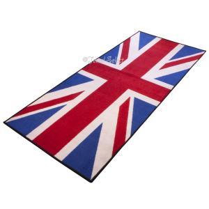 Union Jack イギリス国旗 バイクマット ガレージに お部屋のインテリアマットとしても 190cm×80cm|jewelselect