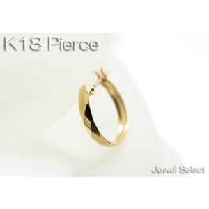 K18 イエローゴールド ミラーカット リングピアス片耳用|jewelselect