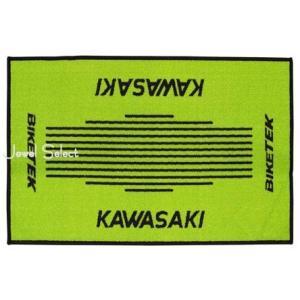 即納 Kawasaki カワサキ ドアマット 玄関マット お部屋のインテリアマットとしても 60cm×90cm|jewelselect
