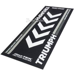 TRIUMPH トライアンフ バイクマット ガレージに お部屋のインテリアマットとしても 190cm×80cm jewelselect