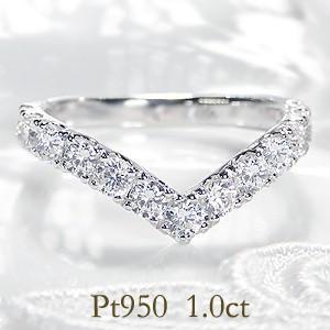 ☆厳選された輝きの良いダイヤモンド13石、1.0ctの輝きに彩られた煌びやかなVライン! 独立したセ...