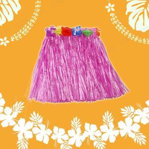 Patymo ハワイアンスカート ショート ピンク コスプレ 衣装 ハロウィン 仮装 大人 コスチューム フラダンス|jewelworld
